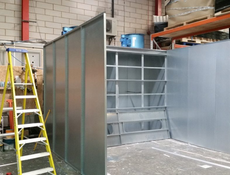 Spray Booth Instalation - First Exhibition Services
